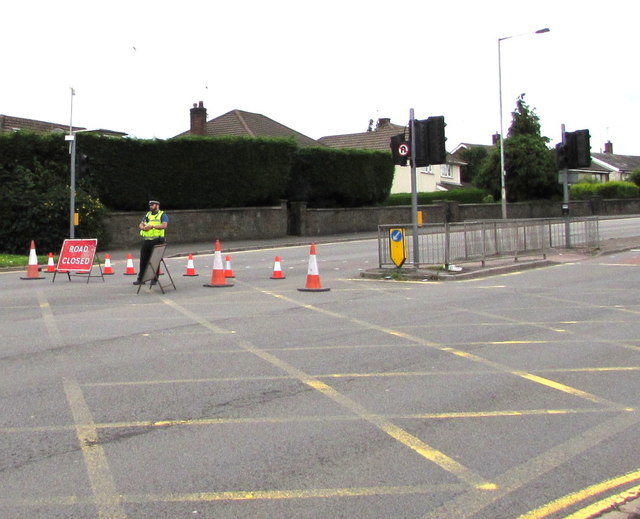 Malpas Road closed north of Bettws Lane, Newport