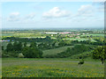 SP9514 : View west  from Pitstone Hill by Robin Webster
