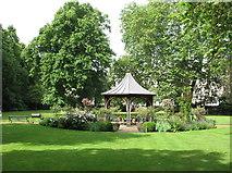 TQ2480 : Royal Crescent Gardens, gazebo and plane trees by David Hawgood