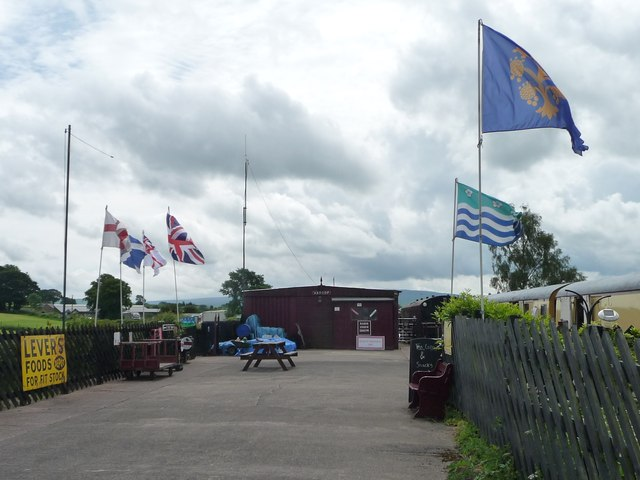 Flying the flags at Warcop Station