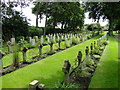 TG5112 : Rows of grave markers in Caister-on-Sea cemetery by Adrian S Pye