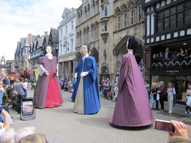 Giants in Eastgate Street, Chester