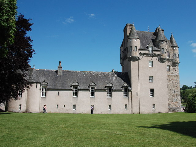 Castle Fraser: view from the west