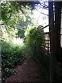 SZ0792 : Talbot Woods: footpath A14 alongside the last house in East Avenue by Chris Downer