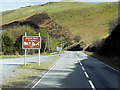 SN7181 : Bwlch Nant Yr Arian Sign on the A44 by David Dixon