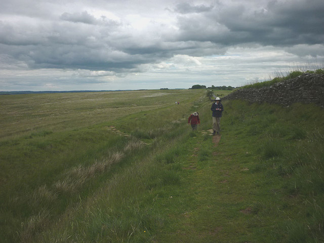 Looking east along the Hadrian's Wall Trail
