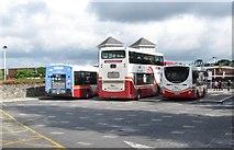 J0407 : Buses at loading platforms at Dundalk Bus Station by Eric Jones