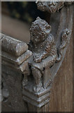 TG1020 : Carved bench end, St Mary's church, Great Witchingham by J.Hannan-Briggs
