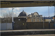 TQ2575 : Alma Tavern and Wandsworth Town Station by N Chadwick
