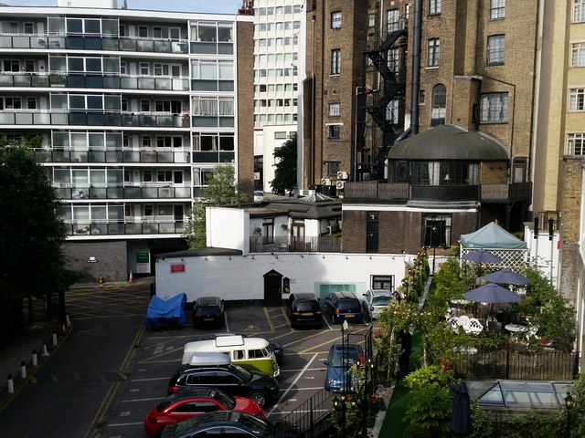 Elms Mews from Room 466 of the Corus Hotel, Lancaster Gate