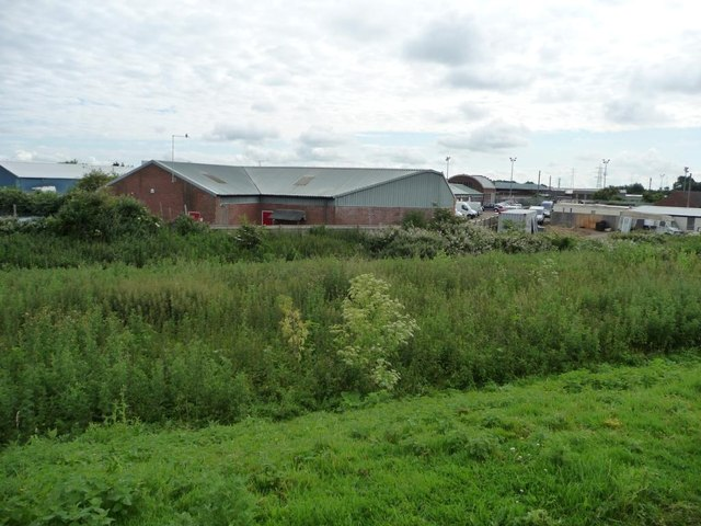 Warehouse on trading estate, First Drove