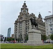 SJ3390 : Edward VII statue at the Pier Head by Mat Fascione