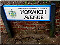 SZ0791 : Norwich Avenue name sign, Bournemouth by Jaggery