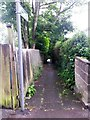 SZ0691 : Westbourne: footpath A03 heads down from Nelson Road by Chris Downer