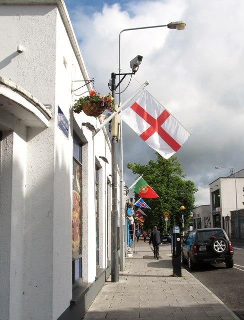 Euro 2016 flags on the Adelphi Shopping Centre