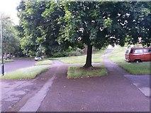 SZ0795 : West Howe: footpath U35 becomes Ericksen Road by Chris Downer