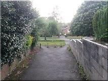 SZ0795 : West Howe: footpath U38 reaches Moorside Road by Chris Downer