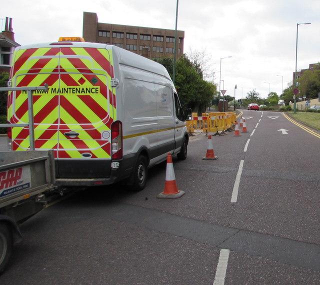 Highway Maintenance van, Cambridge Road,  Bournemouth