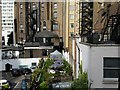 TQ2680 : Rear of buildings on Bayswater Road and Lancaster Terrace by Rich Tea