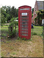 TL9383 : Telephone Box off Brettenham Road by Adrian Cable