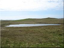 HU3833 : Mill Loch reservoir, East Burra by David Purchase