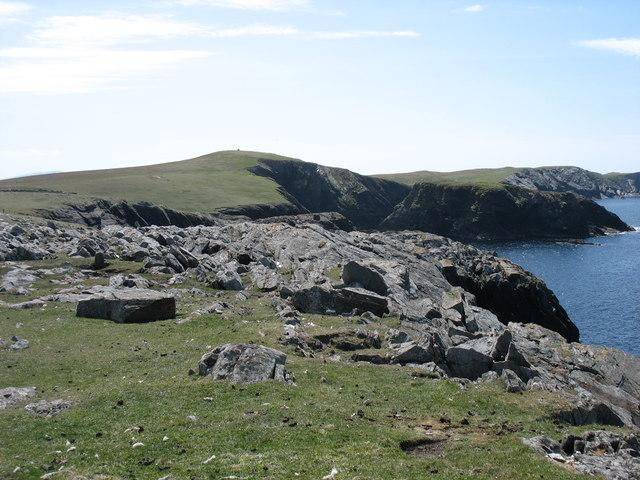 Cliffs on Kettla Ness