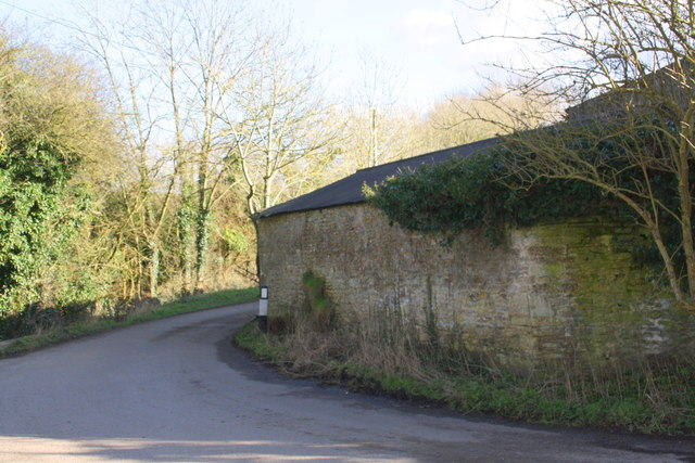 Whitehouse Farm outbuildings at bend in Pigeon House Lane