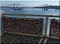 NT1279 : Love padlocks on the Forth Road Bridge by Mat Fascione