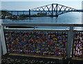 NT1280 : Love padlocks on the Forth Road Bridge by Mat Fascione