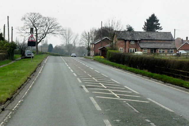 A49 Approaching Crossroads at Chapelhouse Farm