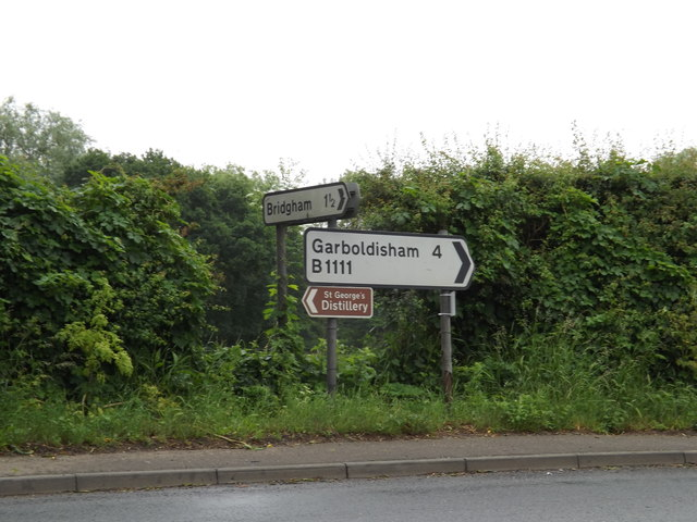 Roadsigns on the B1111 Watton Road