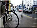 H4572 : Tethered bike, Market Street, Omagh by Kenneth  Allen
