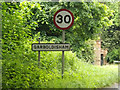 TM0082 : Garboldisham Village Name sign on the B1111 Harting Road by Adrian Cable