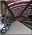 SW4730 : Motorbike parking area, platform 3, Penzance railway station by Jaggery