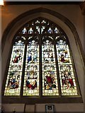TL1998 : St John the Baptist, Peterborough: stained glass window (vi) by Basher Eyre