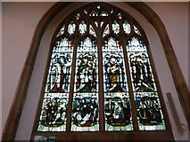 TL1998 : St John the Baptist, Peterborough: stained glass window (xii) by Basher Eyre