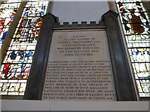 TL1998 : St John the Baptist, Peterborough: memorial (ii) by Basher Eyre