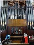TL1998 : St John the Baptist, Peterborough: organ by Basher Eyre