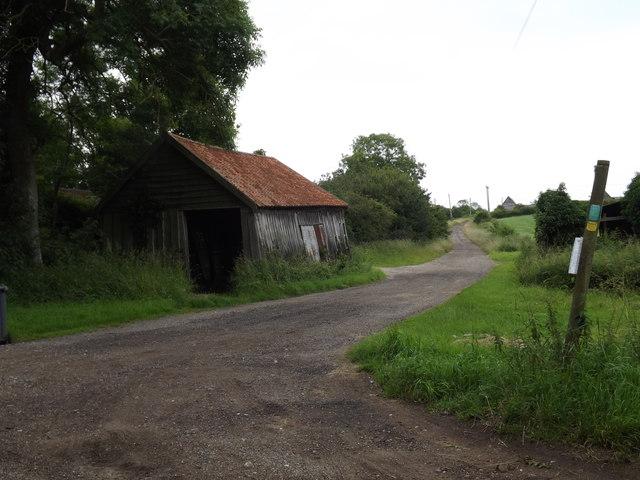 Footpath to Sibton Green