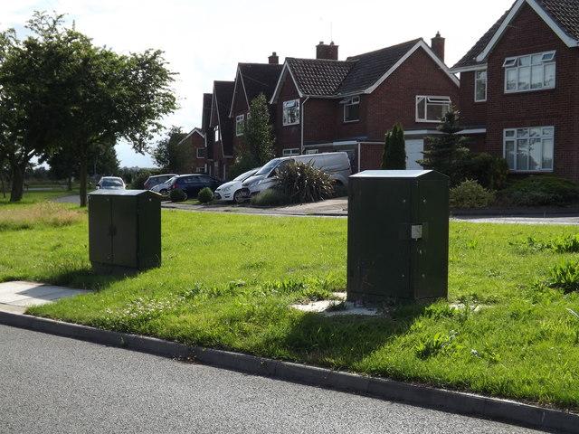 Telecommunication Boxes off the B1117 Walpole Road