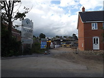 TM3669 : The Croft Housing Development, Sibton by Adrian Cable