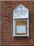 TM3569 : Peasenhall & Sibton Methodist Church Notice Board by Adrian Cable