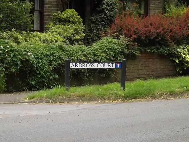 Ardross Court sign