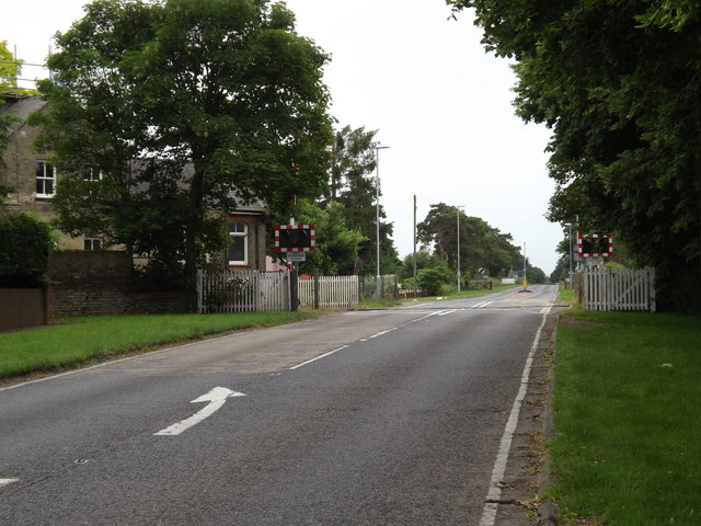 Six Mile Bottom Level Crossing on the A1304 London Road