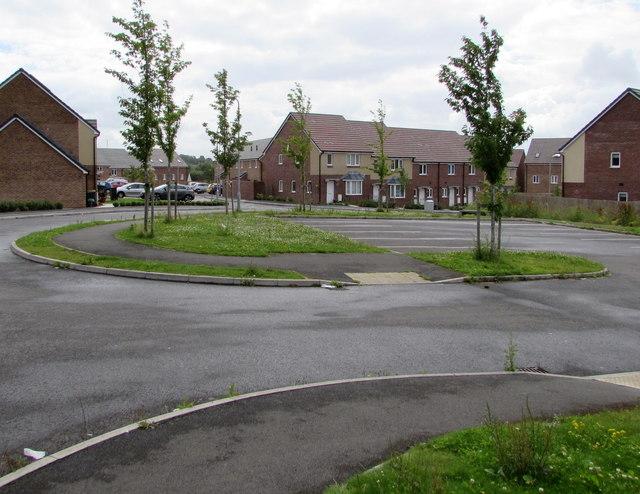Recently-built houses, Alway, Newport
