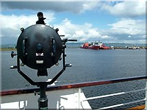 NT2677 : Royal Yacht Britannia signal lamp by Peter Evans