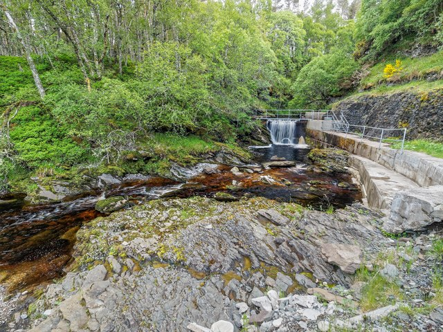 Hydro electric Intake on the Allt nan Caorach