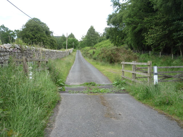 Cattle grid on the minor road towards North Charlton