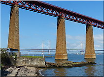 NT1378 : Southern end of the Forth Rail Bridge at South Queensferry by Mat Fascione