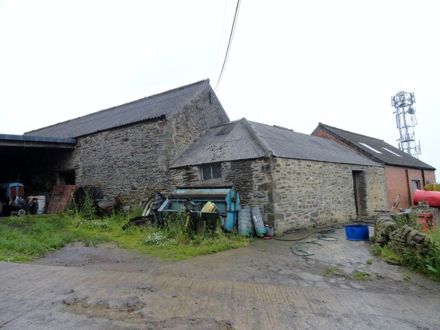 Old outbuildings at Heugh farm